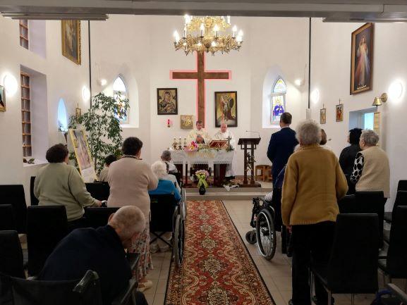 29.09.2020r. - Msza Odpustowa w Kaplicy Domu Pomocy Społecznej