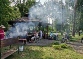 Grill dla Mieszkańców w ogrodzie Dps